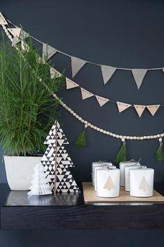 Deco simple y minimalista para #Navidad #Christmas