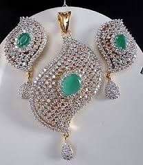 emerald pendant set designs - Google Search