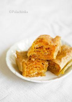Bundevara - serbian ingredients...  18 large phyllo sheets 1 kg grated pumpkin 200 g sugar cinnamon oil