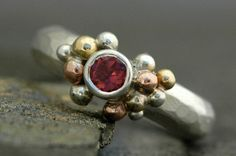Pink Tourmaline in Sterling Silver Rose Gold and by Specimental, $325.00