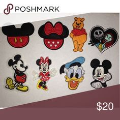 8pcs vintage disney patches Comes with 8 cute Disney iron-on's. Can be used on clothes, hats, and anything you prefer. Please read my description before asking questions. Price firm. Happy shopping (^.^) Disney Other