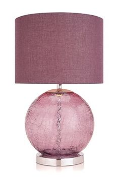 Buy Plum Crackle Glass Table Lamp from the Next UK online shop