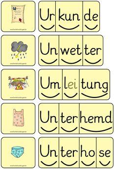 Domino, Buchstabe U, Silbenwörter, Lesen, Freiarbeit, Förderband, Blog, Inklusion, Förderschule,Lesedomino
