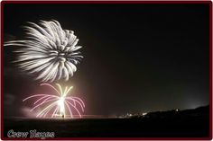 Outer Banks NC Local Artists Facebook post 7/4/15:  Avon Pier Fireworks.  Photographer credit: Crew Hayes.