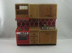 70s doll house furniture: Lundby kitchen / by ideenreichBerlin