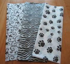 Black and White Print Tissue Paper