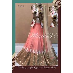 Bollywood Replica - Designer Peach & White Banglori Silk Lehenga Choli - 7272