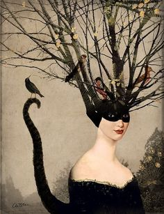 """""""Catwoman"""" Graphic/Illustration by Catrin Welz-Stein posters, art prints, canvas prints, greeting cards or gallery prints. Find more Graphic/Illustration art prints and posters in the ARTFLAKES shop. Fantasy Kunst, Fantasy Art, La Danse Macabre, Anime Kunst, Art Et Illustration, Arte Pop, Pop Surrealism, Wassily Kandinsky, Pics Art"""