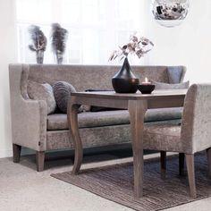 Sofa Kveld fra Ygg og Lyng, vil ha - skal ha:D Table, House Styles, Furniture, Interior, Dining Sofa, Dinning Table, Home Decor, Norwegian Furniture, Dining Table