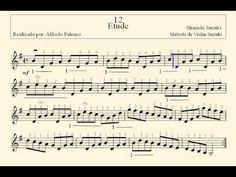 Partirura Etude Nº 12 Método de Violín Suzuki Volume Nº 1 - YouTube