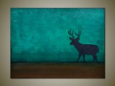 Into the Wild: Deer painting by GillianSarah