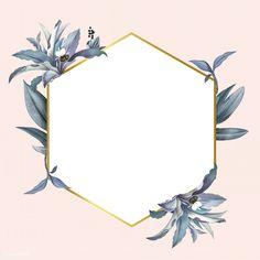 Empty frame with blue leaves design vector Border Design, Leaf Design, Pink Wallpaper, Wallpaper Backgrounds, Empty Frames, Blue Leaves, Floral Border, Instagram Highlight Icons, Flower Frame
