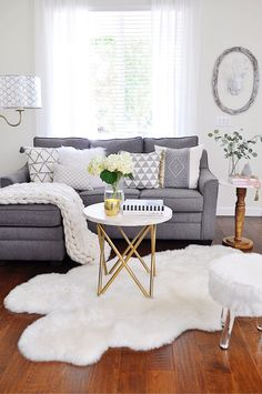 For a quick cozy home: Place cozy knit throws and pillows of various textures together. Mix elements of metal with natural textures like wood and marble for interest! Sponsored by HomeGoods