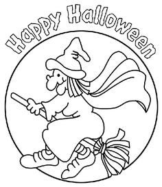 Witch coloring page: free printable color pages