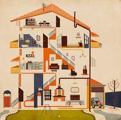 Home Sweet Home by Giordano Poloni, via Behance