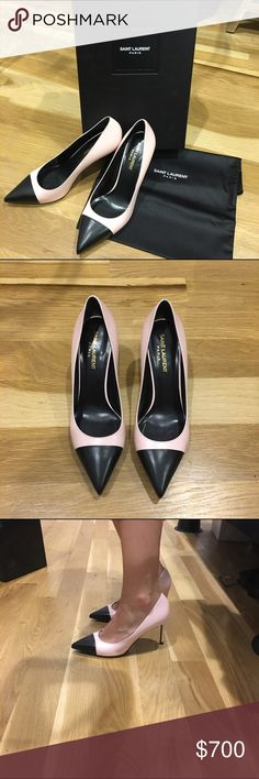 YSL never worn heels Black and light pink ysl heels. Never worn and super comfortable. YSL Shoes Heels