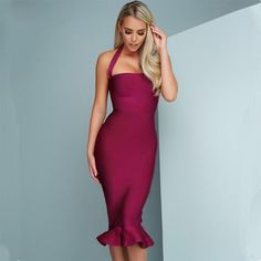 Sophisticated Sleeveless Mermaid Bodycon Dress