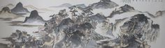 Artist Name:Hu Hansheng Title	:White lotte poetic Medium	:Chinese ink on paper Dimension	:180cmx47cm