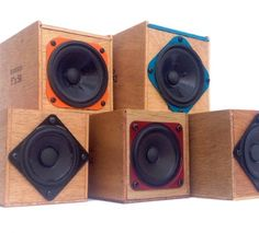 TableTop Wooden Boomboxes