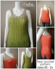 FREE crochet pattern ~ Breezy Shell Tank ~ great for summer.  Pattern comes in 4 sizes.