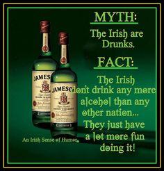 I keep telling everyone we aren't drunks!!