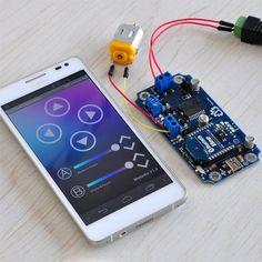 MotorAir - Bluetooth Dual Motor Driver Smartphone Remote Control Kit