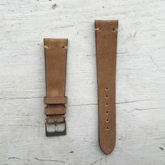 Kangaroo Suede Watch Strap (Sandstone)