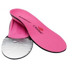 Superfeet hotPINK Premium Insoles are a Thermal Orthotic Arch Support for Winter Warmth Ideal for Women's Ski, Snowboarding, & Nordic Boots.