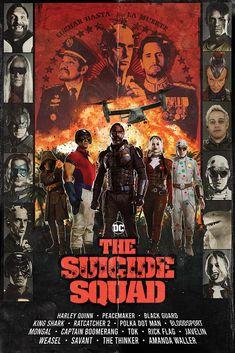 The Suicide Squad (2021) – Szukaj wGoogle Comic Villains, Dc Comics Characters, Captain Boomerang, King Shark, Famous Movie Posters, Suicide Squad, Harely Quinn, Movie Talk, Superhero Design