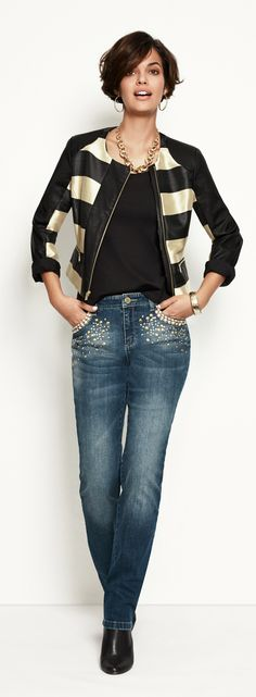 Statement Jacket.  Wear it now, with equally eye-catching jeans.      Chicossweeps