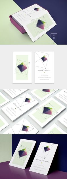 Crystal business card template- vol2 by Polar Vectors on @creativemarket