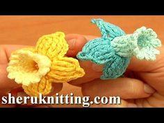 Get the more patterns at http://sheruknitting.com/ Crochet bell flower pattern, crochet flower library, crochet flower for embellishing any of your crochet a...