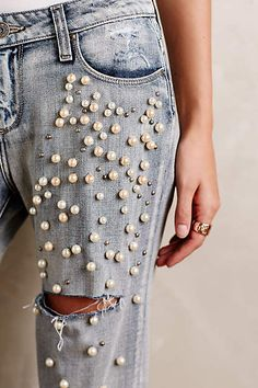 Paige Jimmy Jimmy Embellished Jeans - anthropologie.com