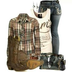 A fashion look from March 2013 featuring BKE tops, OneTeaspoon tops and Miss Me jeans. Browse and shop related looks. Cowgirl Outfits, Cowgirl Style, Western Outfits, Western Wear, Cowgirl Clothing, Cowgirl Fashion, Gypsy Cowgirl, Western Style, Men's Clothing