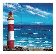 Lighthouse-Acrylic on board