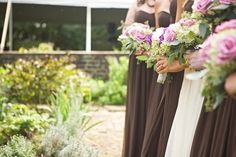 Rustic Chic Brown, Purple & Green DIY Wedding