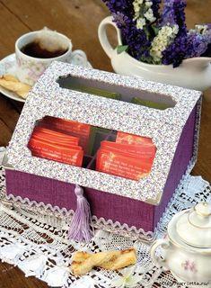 Una caja de cartón para bolsitas de té.  Foto Master Class (1) (514x700, 377kb)