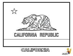 California State Flag Coloring Page SEE The Official Photograph To Match Colors