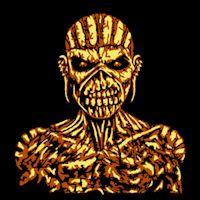 Iron Maiden Edd Book of Souls Pumpkin Pattern stoneykins.com