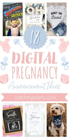 Finding the perfect way to share your wonderful news with all your family and friends can sometimes be tough, so weve created this list to help you pick out the option that suits you the best. See more party ideas and share yours at CatchMyparty.com #catchmyparty #partyideas #pregnant #pregnancyannouncements #digitalpregnancyannouncements