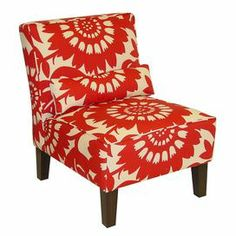 Big, bold pop of color! Delia Accent Chair in Cherry