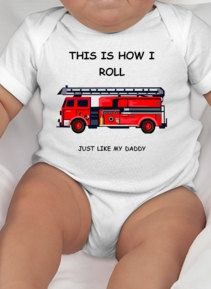This is how I roll cute baby tee displaying a by CuteShirts