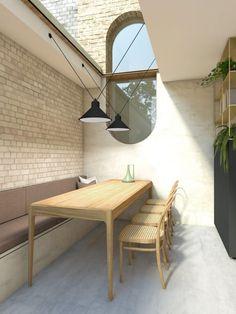 Charcoal House · Architecture & Design in Hackney Architecture Panel, Architecture Design, Architecture Portfolio, Futuristic Architecture, House Extension Design, House Design, Charcoal House, Brick Siding, Concrete Houses