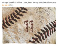 fun baseball pillow case for your boys or girls that play! Customize with their number!