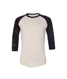 Vintage Burnout Baseball Raglan T-Shirt
