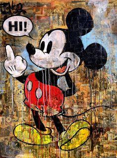 Loui Jover Artist - Recommended by RAFO Fine Arts, Galleria Morcote & swissartgroup Mickey Mouse Wallpaper Iphone, Snoopy Wallpaper, Graffiti Wallpaper, Cute Disney Wallpaper, Cartoon Wallpaper, Mickey Mouse Kunst, Mouse Pictures, Mickey Mouse And Friends, Street Art Graffiti