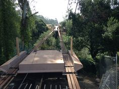 Hagemann Gulch Bridge Panel Installation