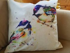 Bird Pillow Linen Pillow Bird Lovers Gift Shams Bird