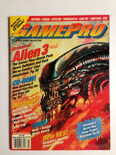 Nostalgic & Epic Video Game Magazine Cover Art & Vintage Design Print Ads From The Past - Geek Inspiration Video Game Magazines, Gaming Magazines, Classic Video Games, Retro Video Games, Retro Games, Game Boy, Sega Genesis, Turbografx 16, Sega Cd