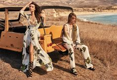 Emily Ratajkowski and Sasha Pivovarova star in Twin-Set's spring-summer 2017 campaign